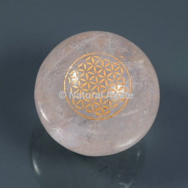 Crystal Quartz With Flower Of Life Ball