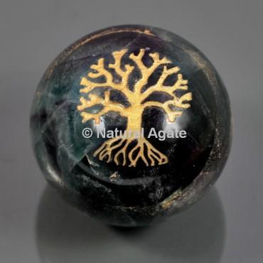 Fluorite Tree Of Life Ball