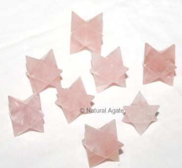 Rose Quartz Merkaba Star
