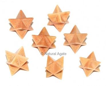 Peach Aventurine Merkaba Star