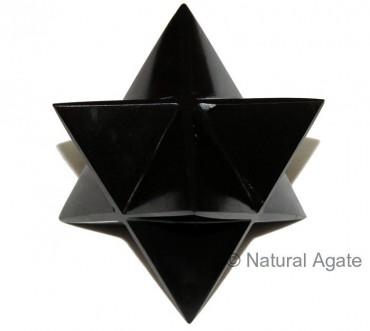 Black Agate Merkaba Star 40-50 MM