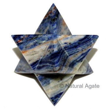 Sodalite Merkaba star 40-50 MM