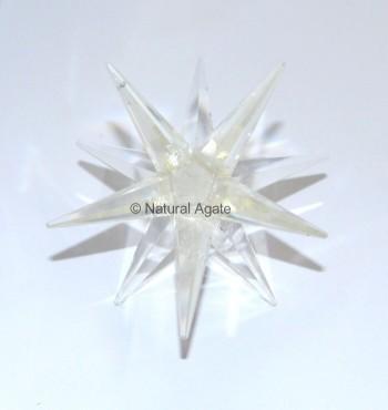 Crystal Quartz 12 Point Star