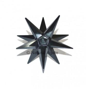 Black Agate 12 Point Star