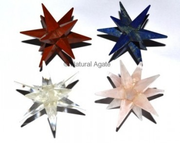Mix Gemstone 12 Point Star