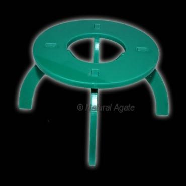 Green Round Ecralic Ball Stand