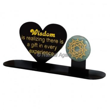 Wisdom Acrylic With Stone