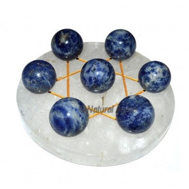 David Star Goldne 7 Ball Sodalite with Crystal Qua