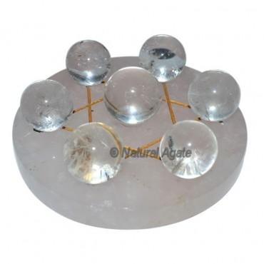 Crystal Quartz 7 Ball with David Star