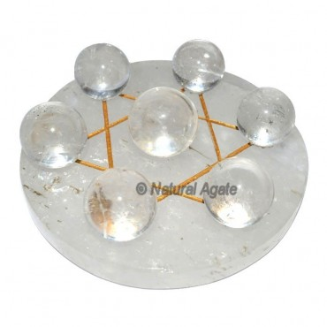 David Star Crystal Quartz 7 Chakra crystal ball