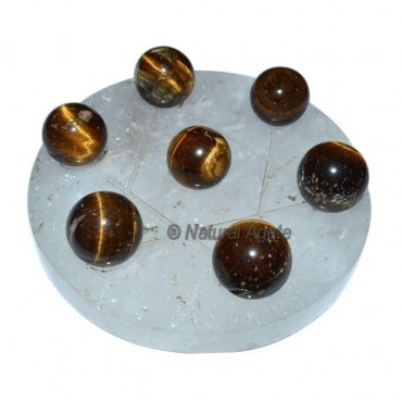 Tiger Eye 7 Ball with David Star Base