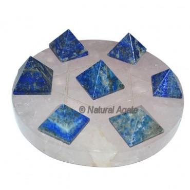 David Star 7 Lapis Pyramids with Crystal David Sta