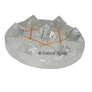 David Star 7 Crystal Pyramids with Crystal Base