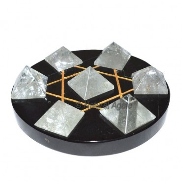 David Star 7 Quartz Pyramids with Black Base