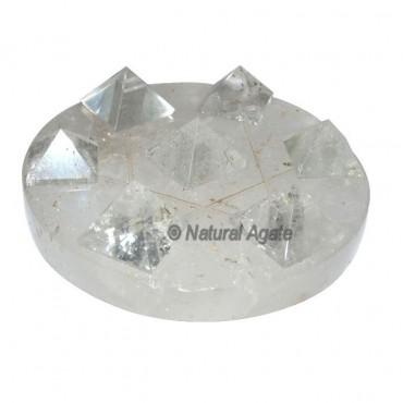 David Star Pyramids with Crystal Base