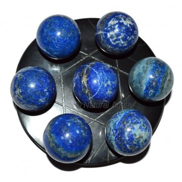 7 Lapis Ball with Balck David Star Base