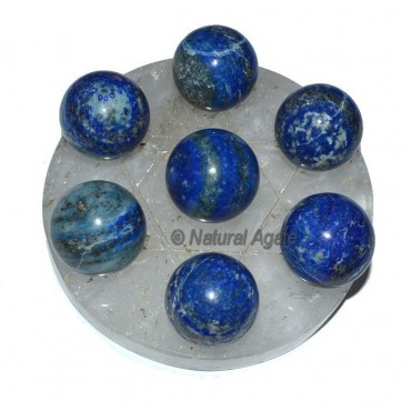 7 Lapis Ball with crystal David Star Base