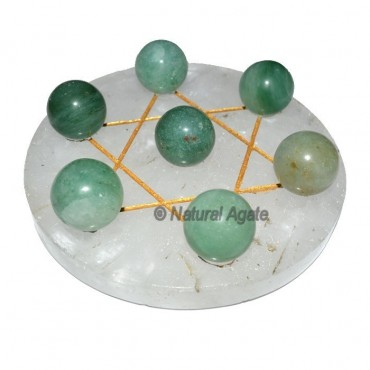 7 Green Aventurine Ball with  Crystal Gold David S