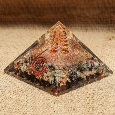 Sunstone Orgonite Protection Pyramid