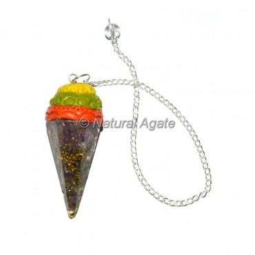 Chakra Chips Orgone Tibetan Pendulums