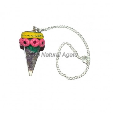 Amethyst Tibetan Pendulums with Orgone Stone