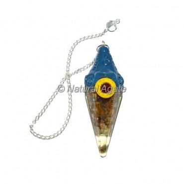Yellow Jasper Orgone Tibetan Pendulums