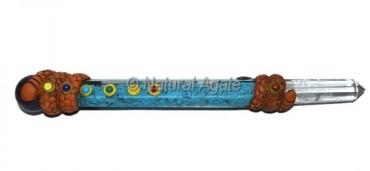 Turquoise Orgone Seven Chakra Tibetan Wand