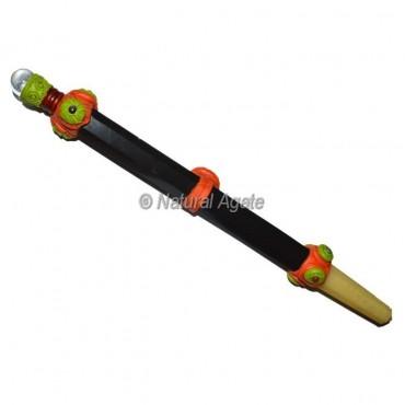 Black Tourmaline Tibetan Stick