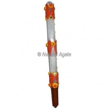 Crystal Quartz Tibetan Stick