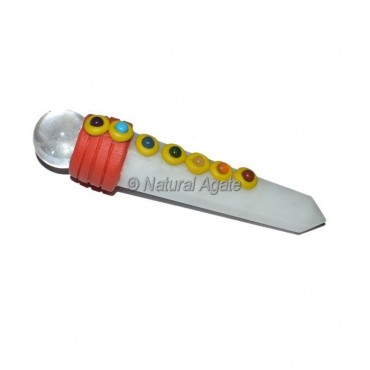 White Agate Tibetan Stick