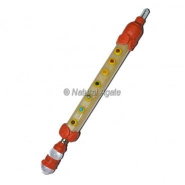 Golden Quartz 7 Chakra Tibetan Stick