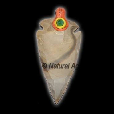 Tibetan Agate Arrowheads Pendants