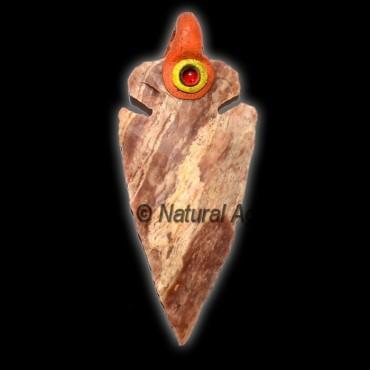 Garnet Tibetan Arrowheads Pendants