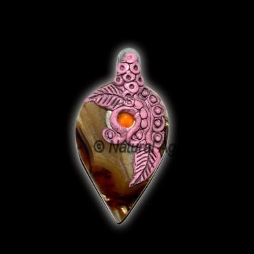Agate Tibetan Pendants