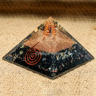 Tourmaline Orgonite Pyramid for EMF Protection