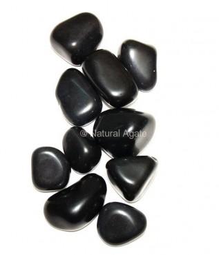Black Agate Tumbled Stone