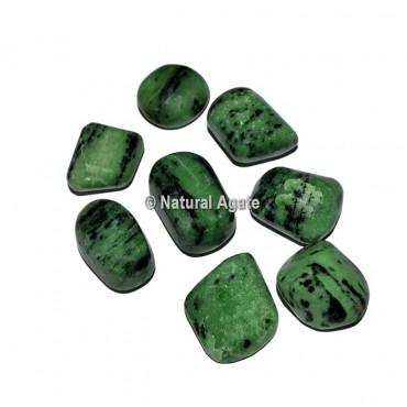 Green Zoisite Tumbled Stones