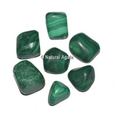 Origional Malachite Tumbled Stones