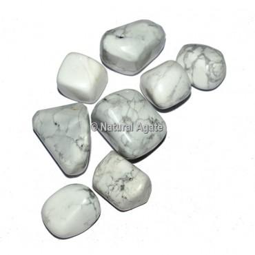 White Howlite Tumbled Stones