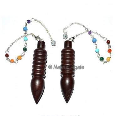 Rose Wood Isis Chakra Pendulums