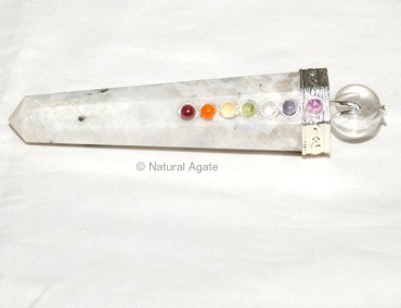Rainbow Moon Stone Chakra Massage Wands