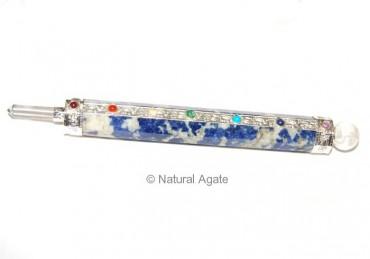 Lapis lazuli Chakra Wands