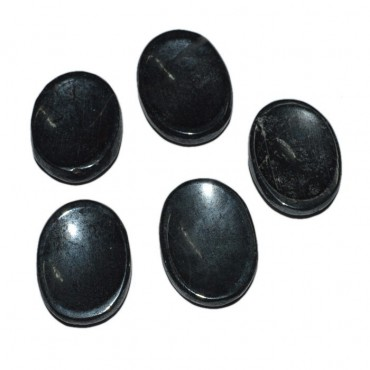 Black Tourmaline Worry Oval Stone