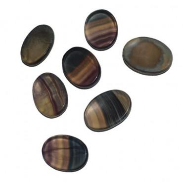 Multi Flourite Worry Oval Stone