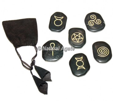 Black Agate Wiccan Set