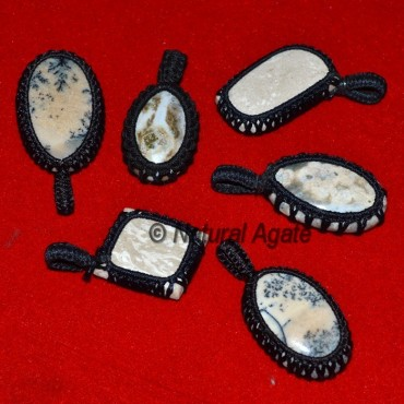 Dndrict Agate Wrap Cabs Pendnats