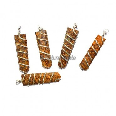 Calligraphy Flat Pencil Wrap Pendants