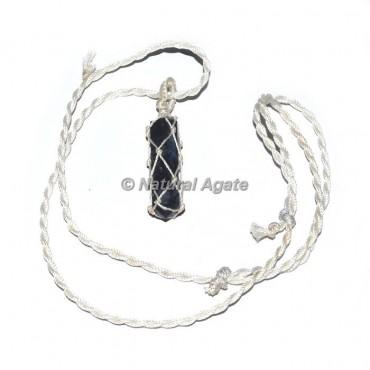 Sodalite Pencil Wire Wrap Pendants