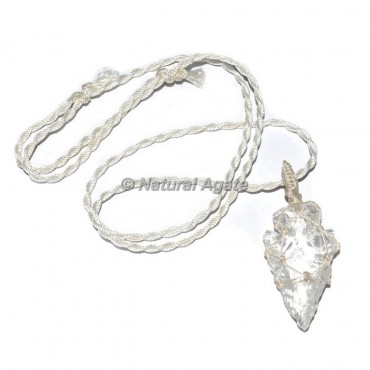 Crystal Quartz Arrowhead Wire Wrap Pendants