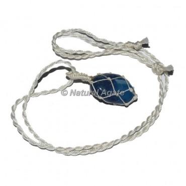 Blue Onyx Tumble Wire Wrap Pendants